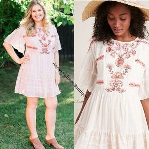 HTF NWT ANTHROPOLOGIE Lecce Embroidered Dress